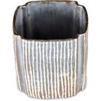 京焼の鼡志野の麦藁角切筒向