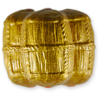 金泥釉の三つ俵・蓋付珍味入れ