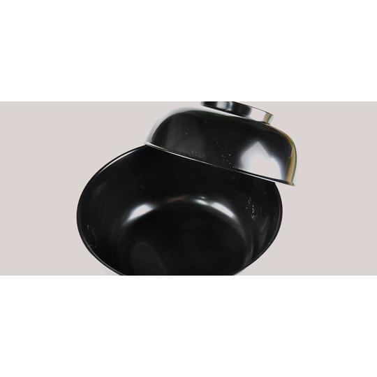木合黒漆塗りの飯椀