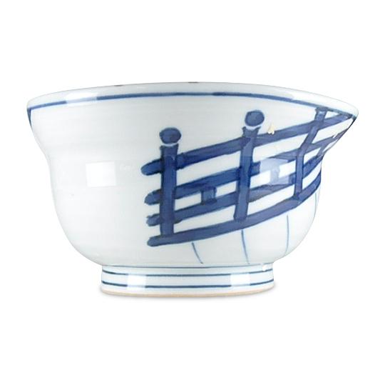 染付橋絵の中鉢